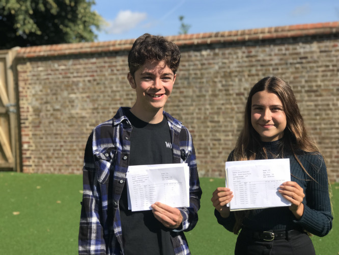 Elliot Wright And Eleanor Thomas GCSE Results
